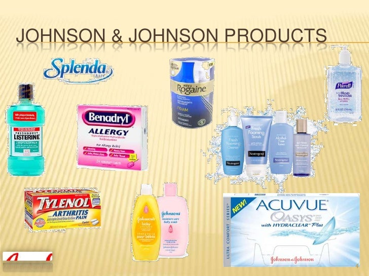 product mix of johnson and johnson